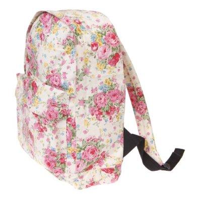 Sass & Belle Vintage Floral Back Pack - Cream: Amazon.co.uk: Shoes & Bags