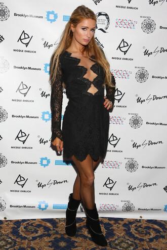 dress paris hilton boots little black dress