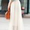 Layered mesh skirt - white