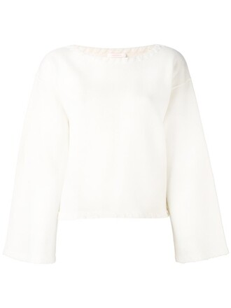 jumper women white wool sweater