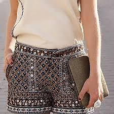 Zara Bloggers Sequin Beaded Party Shorts Size XS Extra Small | eBay