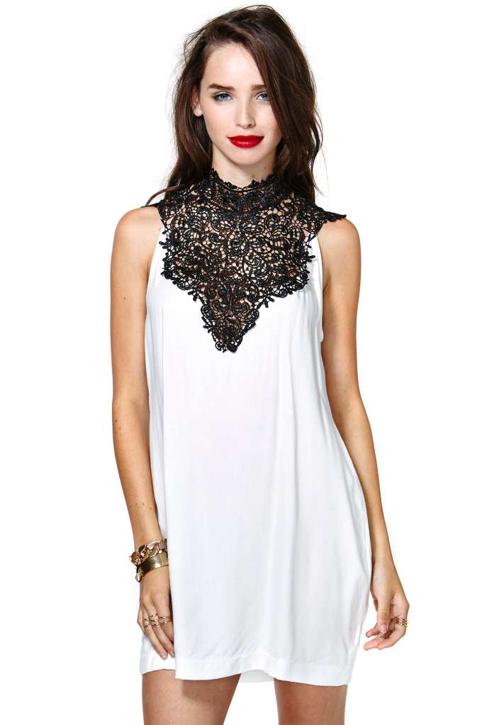 Tied Crochet Dress - Ivory | Shop Dresses at Nasty Gal