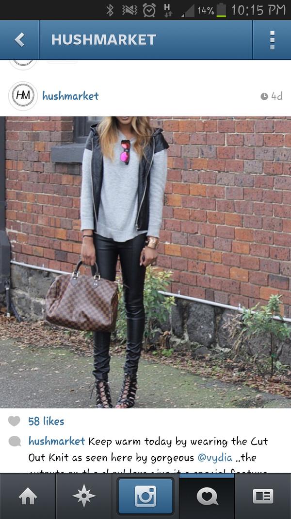 jeans leather leather jacket fashion