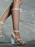 Sexy Gladiator Bandage Sandals White Black Knee High Platform Sandals Heels Boots - Juicy Wardrobe