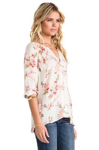 shirt blouse cherry blossom girl