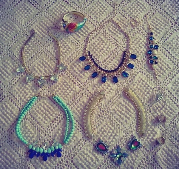 jewels parfois necklace statement necklace chicwish h&m pull & bear
