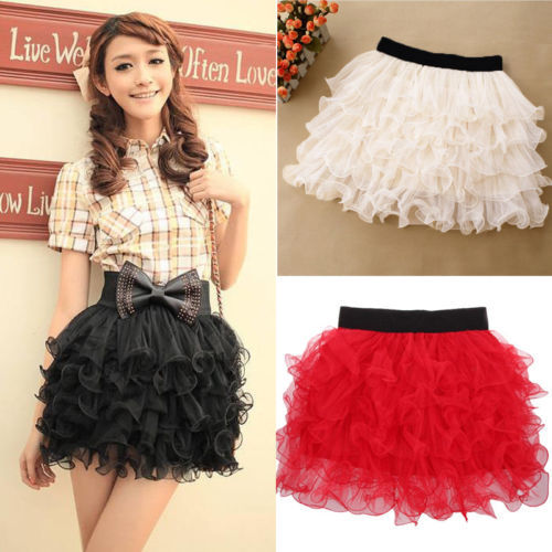 New Women Girl Pretty Elastic Stretchy Tulle  5 Layer Adult Tutu Skirt-in Skirts from Apparel & Accessories on Aliexpress.com
