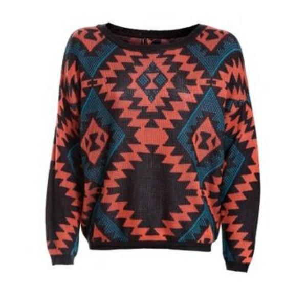 sweater sweat aztec pink black blue