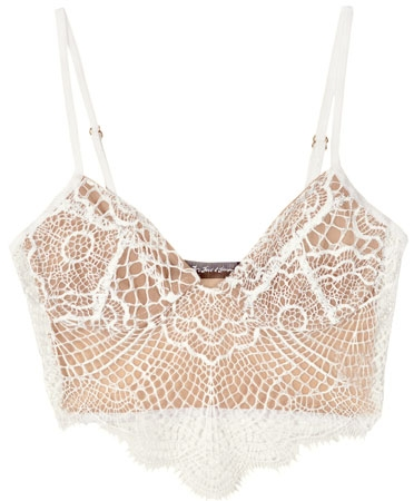 For Love & Lemons White Bat Your Lashes Bra