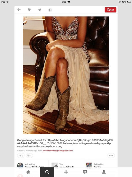 dress sequins long country style country wedding