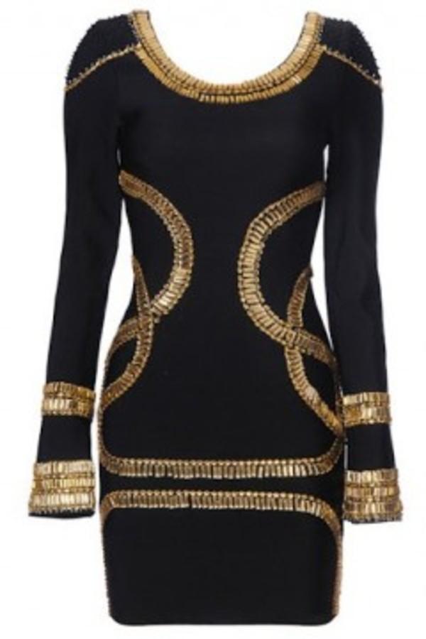 dress black dress gold sequin dress black and gold dress short dress