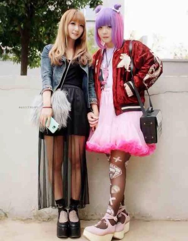 dress kawaii black fashion kawaii grunge tights tokyo fashion harajuku harajuku jacket shoes