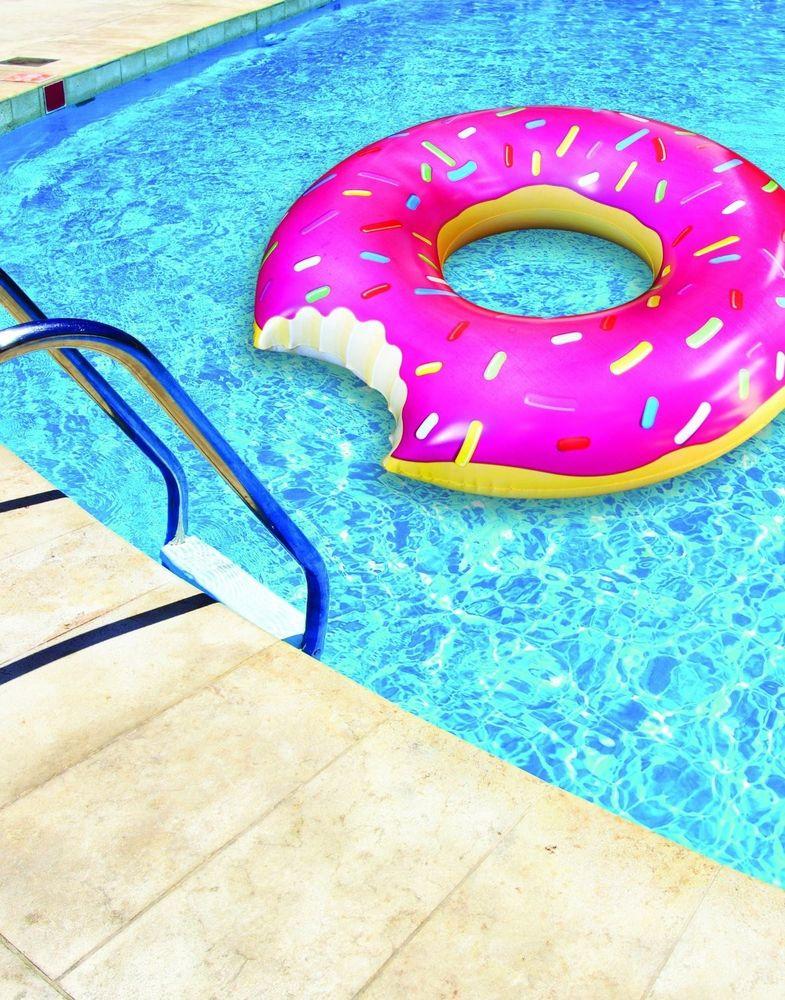 New Donut Pool Float Tube Lake Camping Swimming Inflatable Lounge Waterfloating | eBay