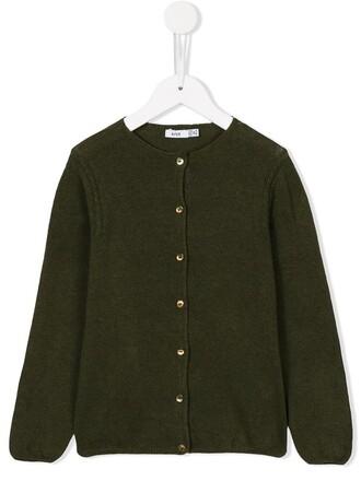 cardigan girl knit green sweater