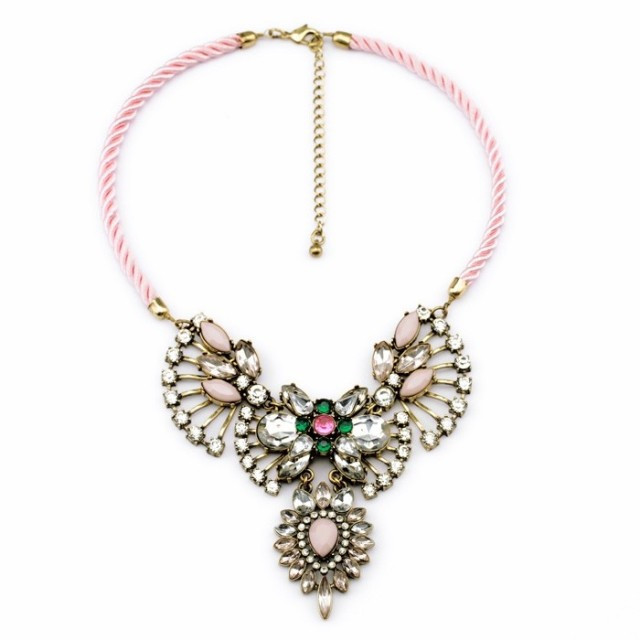 Floral Crystal Statement Necklace – Shop Compulsive