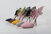 JC shoes Sophia Webster vampire diaries dream hollow sandals since with colorful butterfly wings-in Pumps from Shoes on Aliexpress.com
