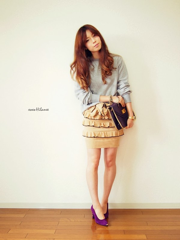 xoxo hilamee t-shirt skirt sweater shoes bag jewels