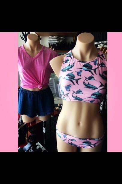 swimwear shark bikini swimmers