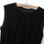 Black Sleeveless Contrast PU Leather Ruffle Blouse - Sheinside.com