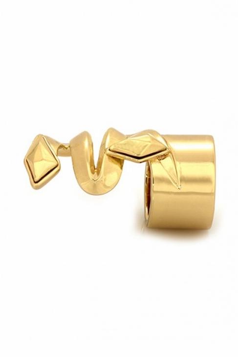 Belle Noel by Kim Kardashian Faceted Metal Stone in Yellow Gold