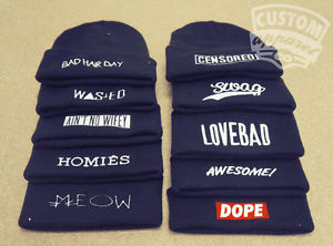 Beanie Hat Dope Homies Wasted Bad Hair Day Meow Aint No Wifey T Shirt Snapback | eBay