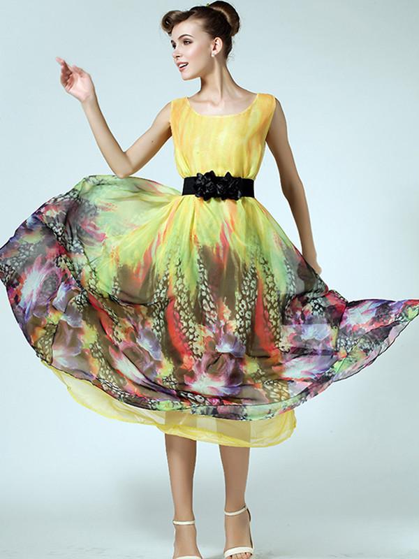 bohemian dress maxi dress yellow dress chiffon dress dress