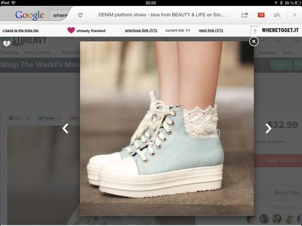 shoes denim blue platform shoes white denim shoes not high heeled bag