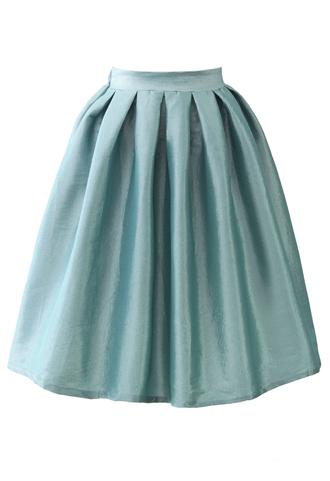 skirt cobalt blue a-line midi skirt