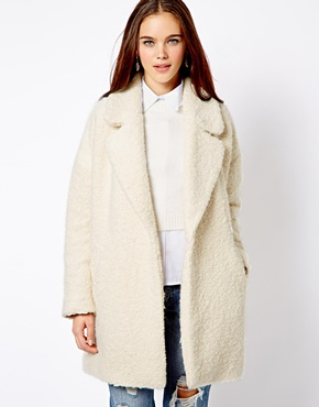 River Island   River Island Relaxed Faux Fur Coat at ASOS