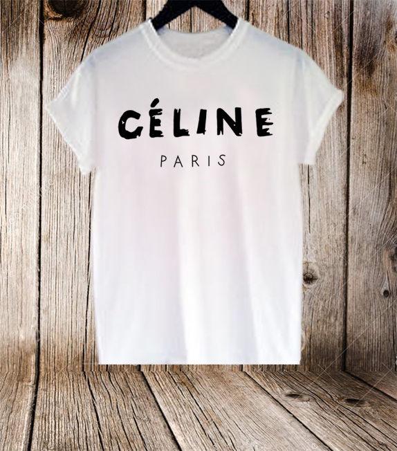 CELINE PARIS T SHIRT 100% Cotton | eBay