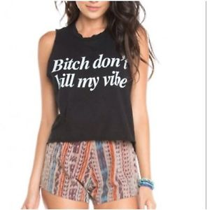 Brandy Melville Bitch Dont Kill My Vibe Tank Top | eBay