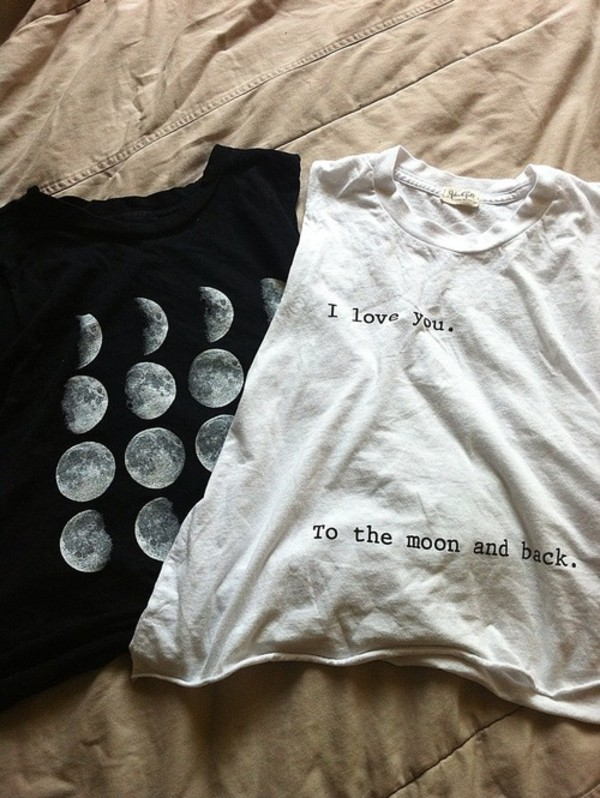 tank top top moon white tank top black tank top t-shirt black t-shirt white t-shirt i love you to the moon and back shirt moon swag top hipster tumblr shirt help skirt vintage flowy shirt muscle tee phases of the moon