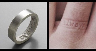 jewels ring letter ring mark