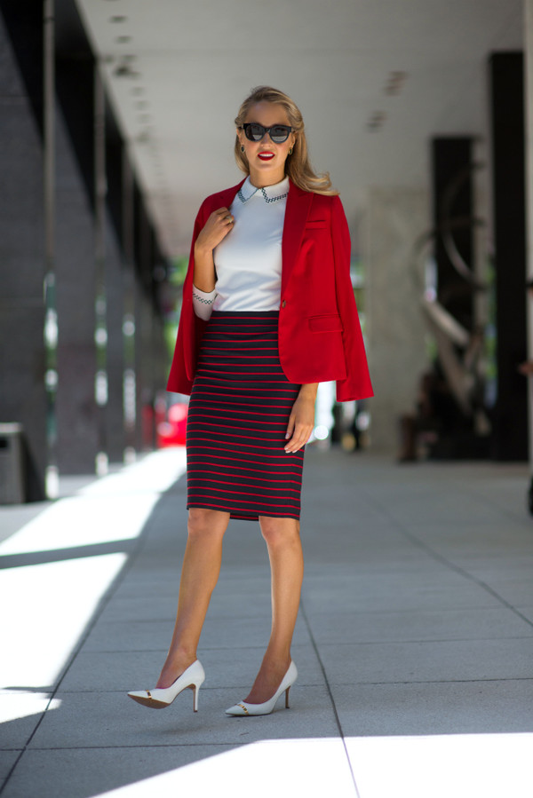 the classy cubicle skirt jacket shoes jewels sunglasses
