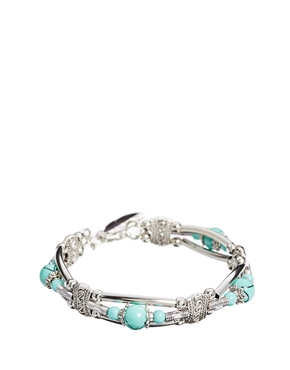 ASOS | ASOS Bead & Feather Cuff Bracelet at ASOS