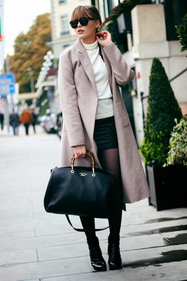 kayture coat skirt shoes sunglasses jewels bag