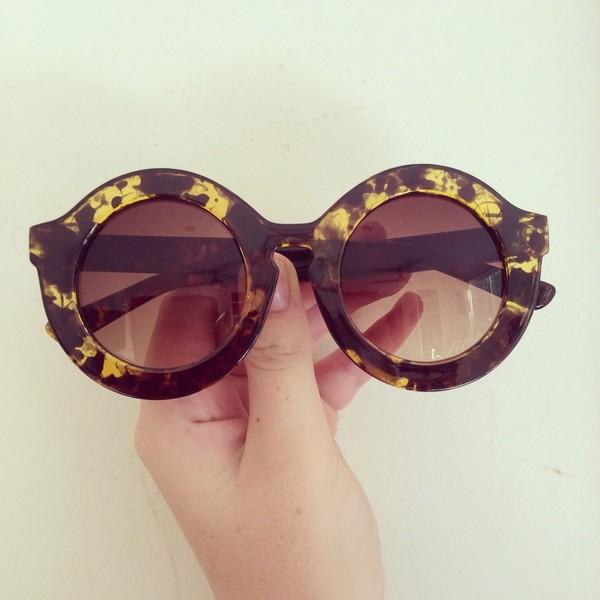sunglasses fashion yellow black vintage