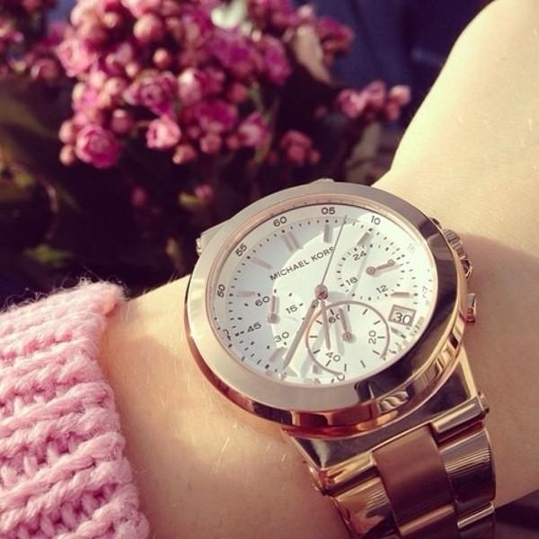 jewels watch watch michael kors gold watch