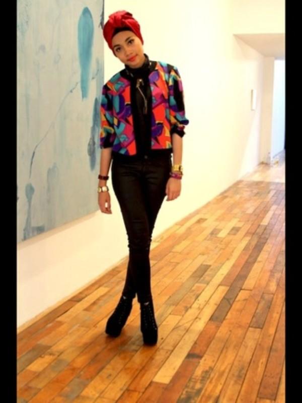jacket colorblock colorful fashion cute sweatshirt shirt retro jeans