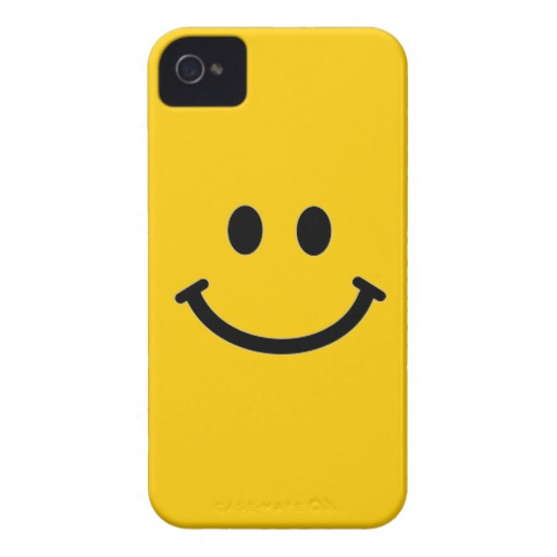Customizable Smiley Face iPhone 4 Case from Zazzle.com