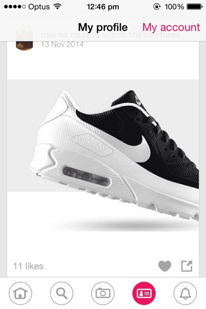 shoes air max black and white nikee
