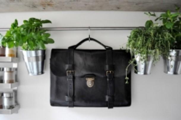 leather black bag bag