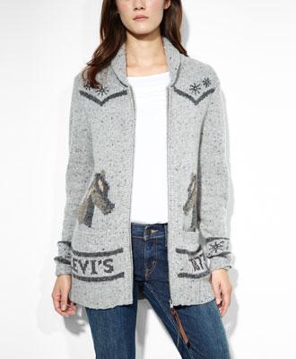 Levi's Vintage Rodeo Sweater - Tan - Sweaters & Fleece