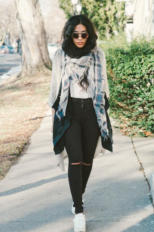 love you duh sunglasses scarf