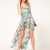 Chiffon Sleeveless Asymmetrical Floral Vacation Vest Dress : KissChic.com