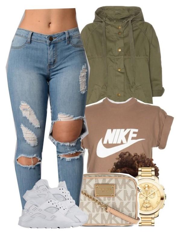 t-shirt, nike, dope, beige top, cropped t-shirt, jacket ...