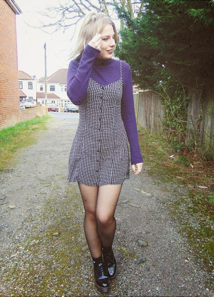the velvet black grunge blogger dress sweater socks shoes