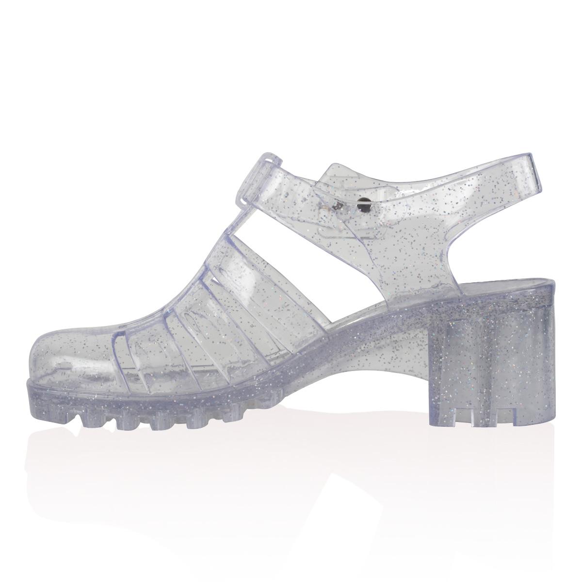 Ladies Jelly Womens Retro Beach Flip Flop Summer Heel Sandals Shoes Size 5 10 | eBay