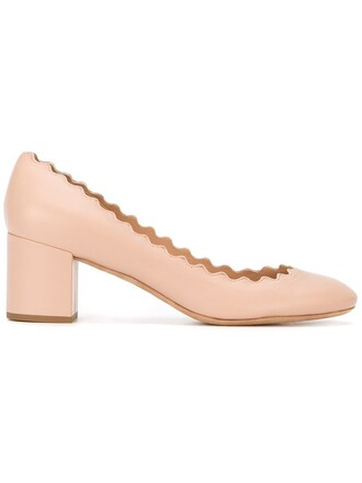 women pumps leather nude shoes