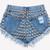 609 Vintage Studded Back Shorts   RUNWAYDREAMZ